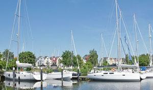 moderner Hafen in Vorpommern